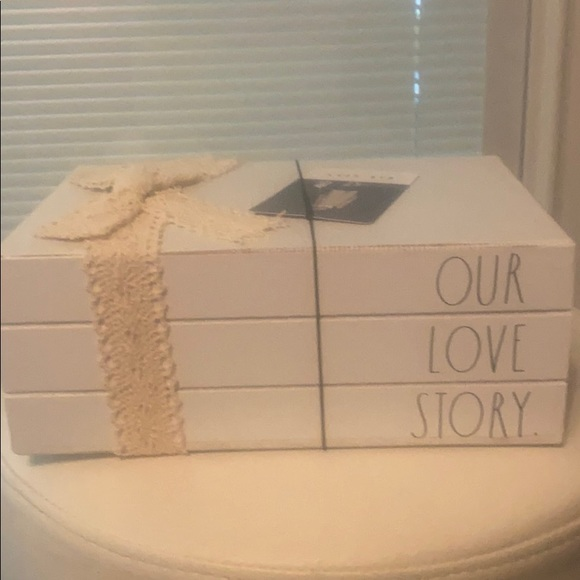 Rae Dunn wooden our love story books